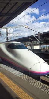那須塩原駅にて(<br />  新幹線)